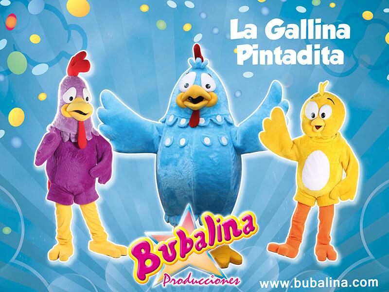 la gallina pintadita para fiestas infantiles