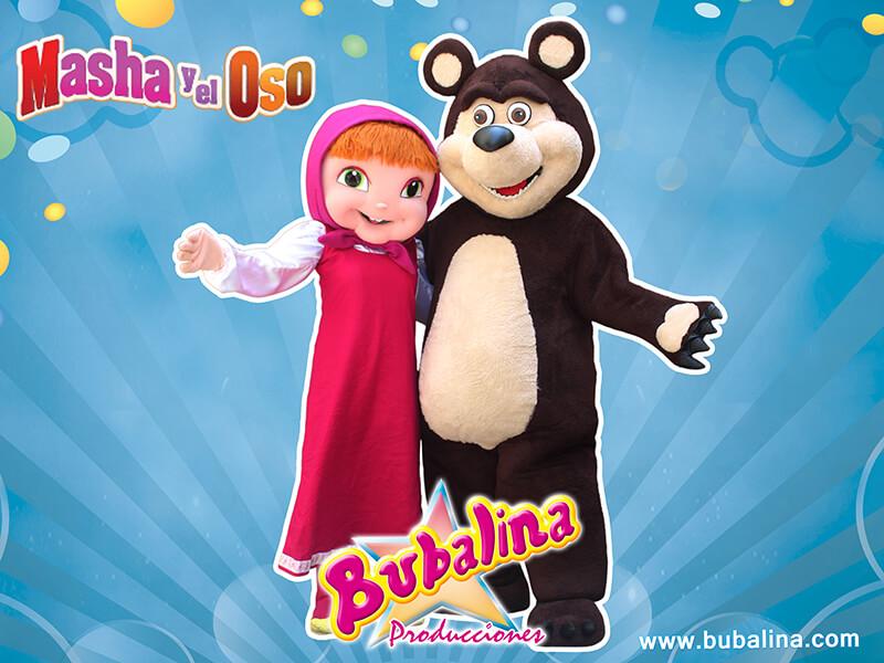 masha y el oso para fiestas infantiles