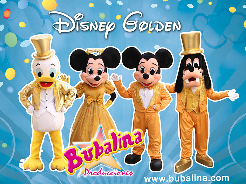 show disney golden para fiestas infantiles