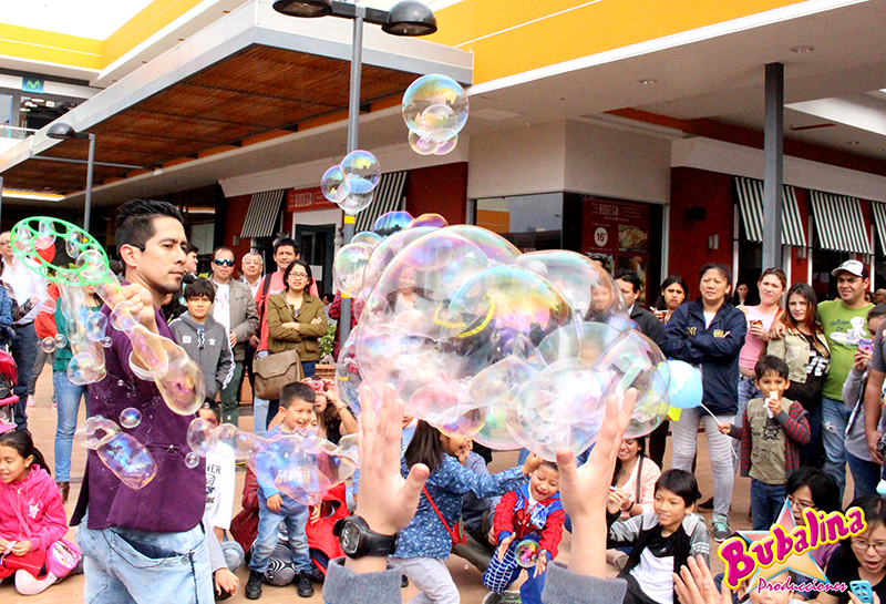 show de burbujas para fiestas