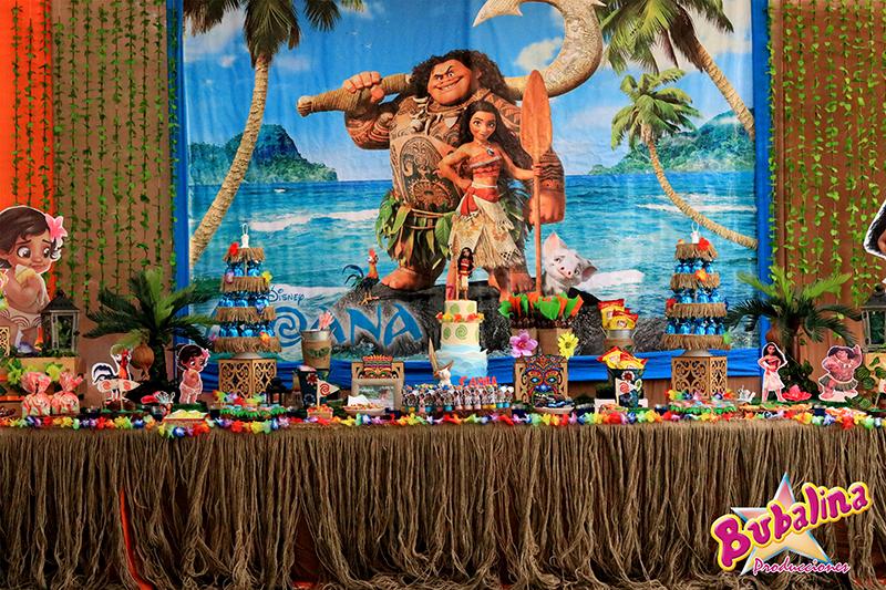 decoraciones y catering estilo Moana