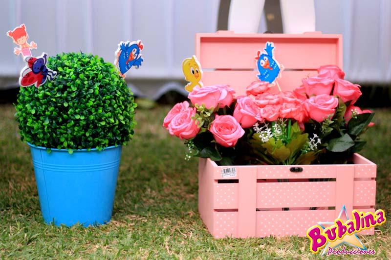 Decoraciones de flores para fiestas infantiles