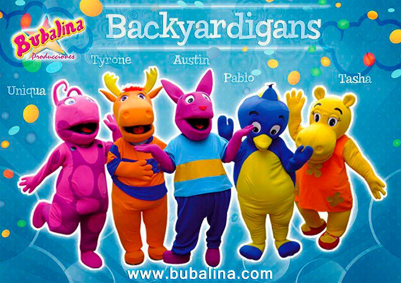 Show de los backyardigans para fiestas infantiles