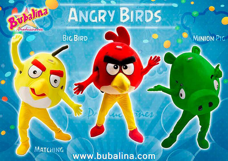 angry birds para fiestas infantiles