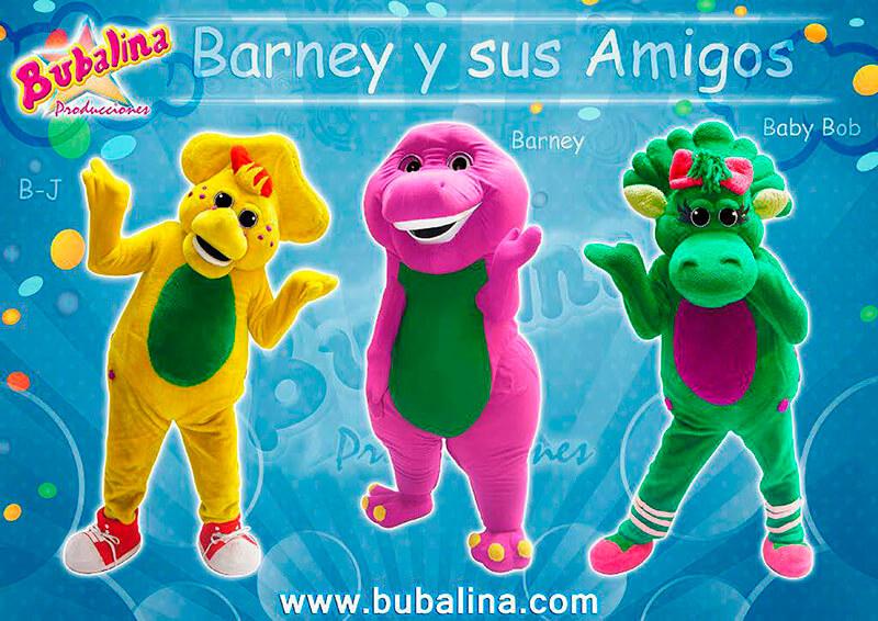 el show de barney y sus amigos para fiestas infantiles