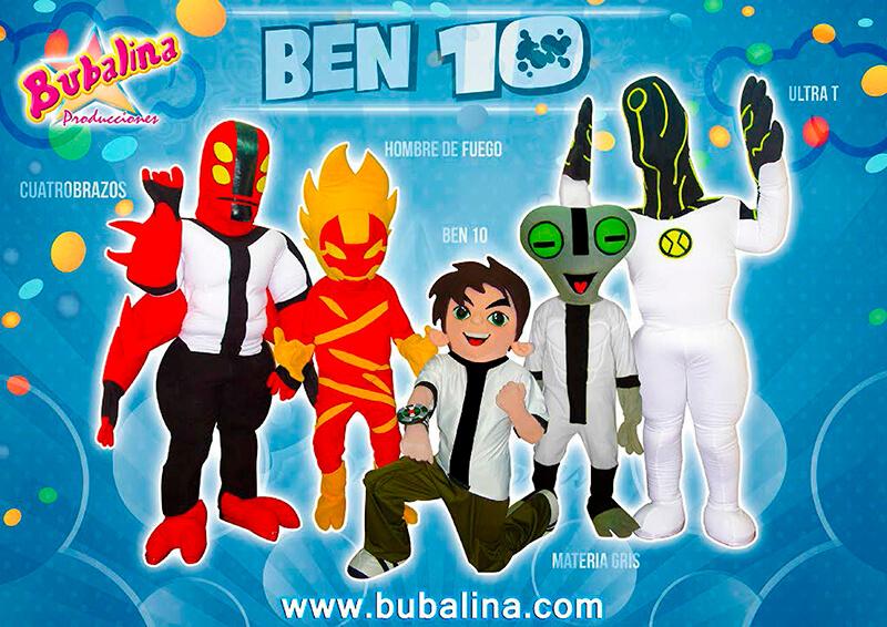 el show de ben 10 para fiestas infantiles