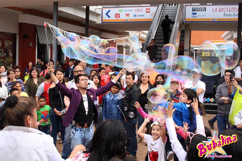 show infantil de burbujas