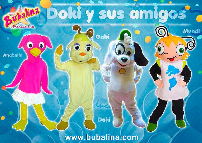 doky y sus amigos para fiestas infantilles