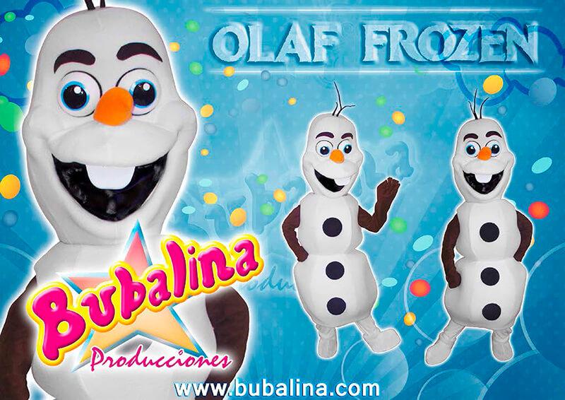muñeco de nieve frozen para shows infantiles