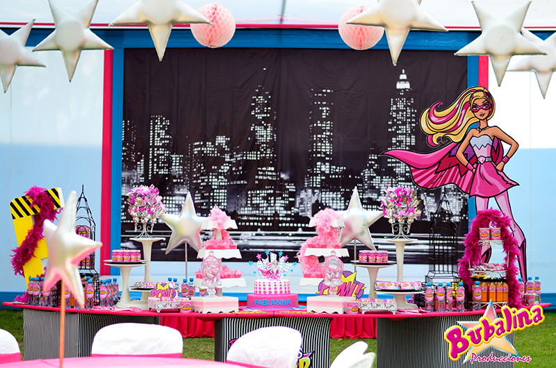 decoracion barbie para fiesta infantil