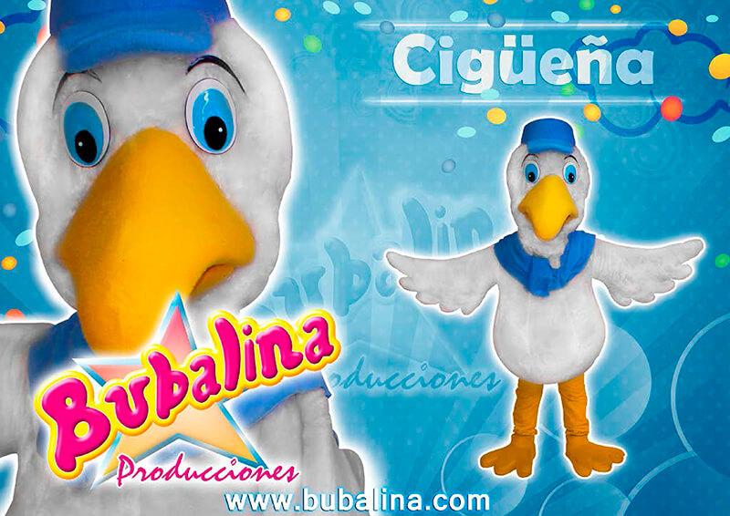 Show infantil de la cigueña para niños y fiesta infantil