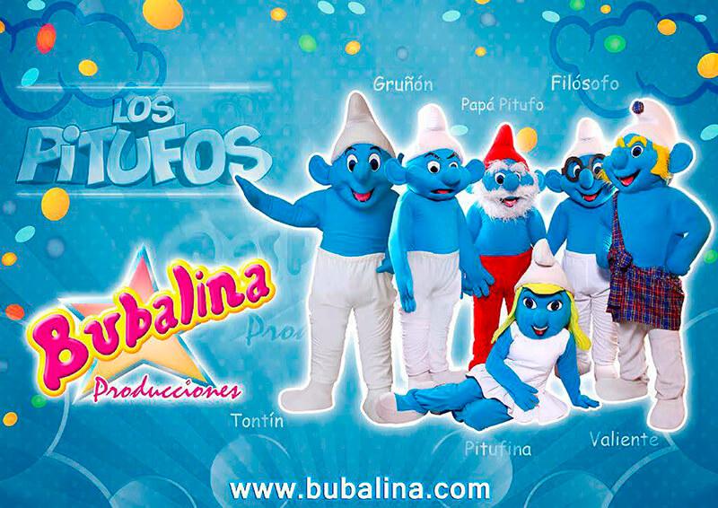 Show de los pitufos para niños y fiesta infantil