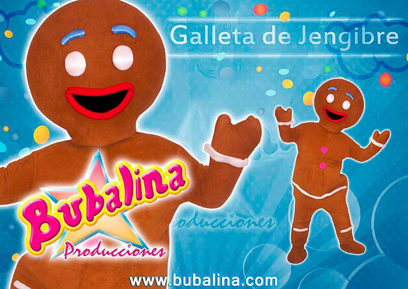 Show infantil de navidad con personaje galleta de jengibre