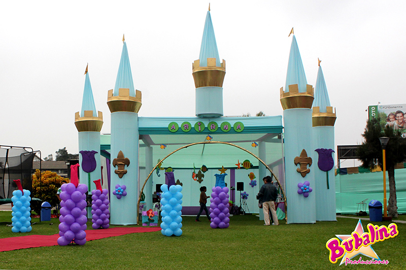 Toldos y decoraciones para fiestas infantiles