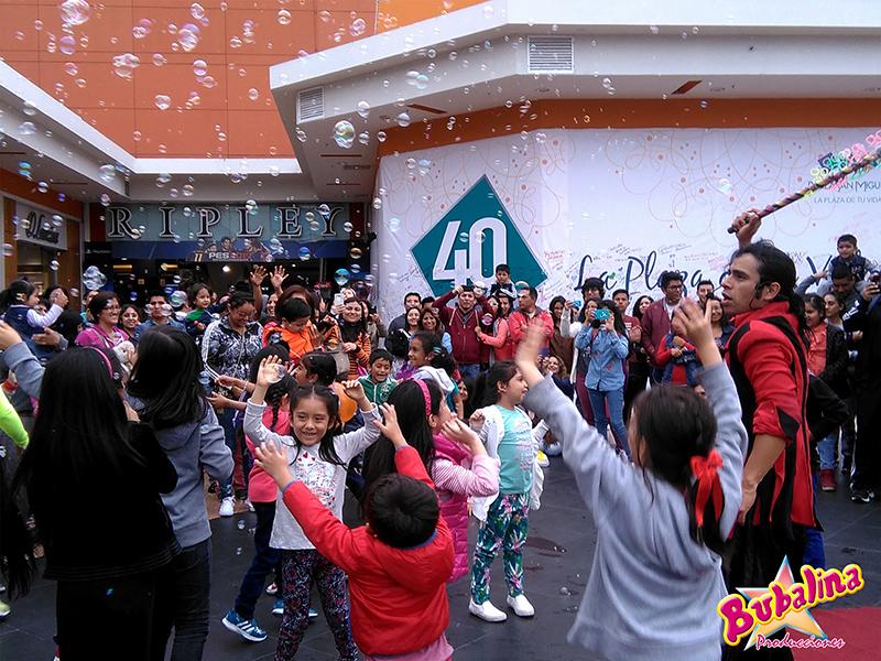 show de burbujas para eventos