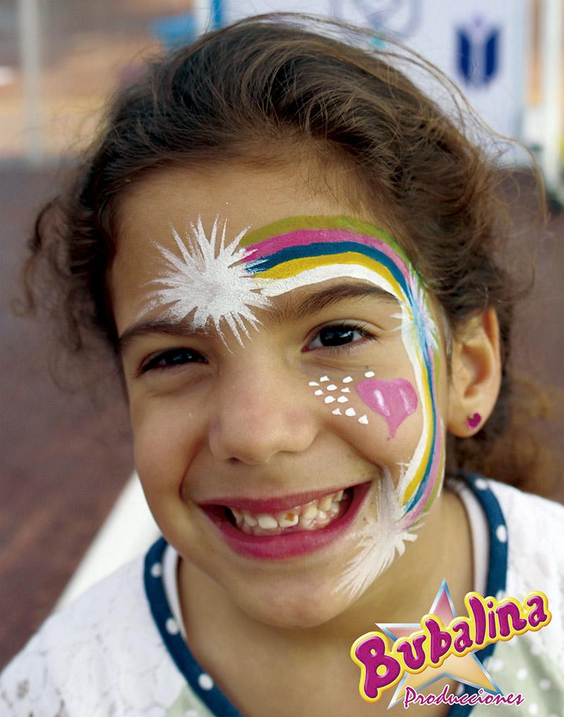 caritas pintadas para niños y fiestas infantiles